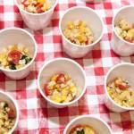 Corn salsa appetizer