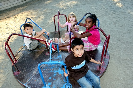 CASA children on playground