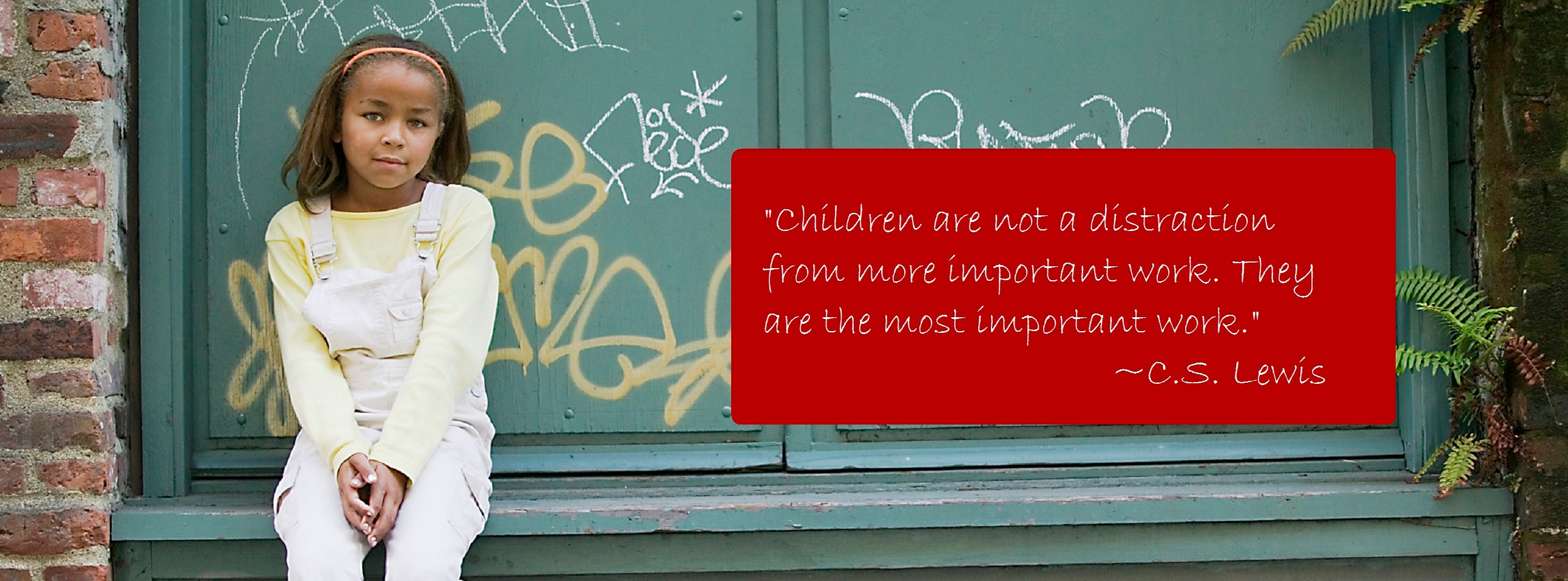 CASA child with C.S. Lewis quote